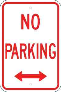 What is missing from this no parking rule?