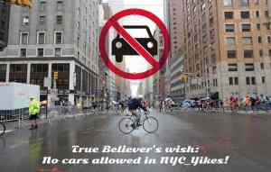 NYC parking policy wish is no cars allowed