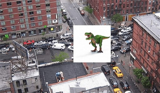 Vacant curbside parking spaces are like dinasaurs