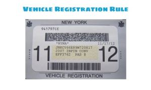 NYC vehicle registration rule for registration sticker