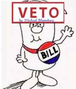 parking ticket bills vetoed by Mayor Bloomberg