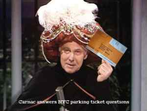 NYC parking ticket questions answered by Carnac