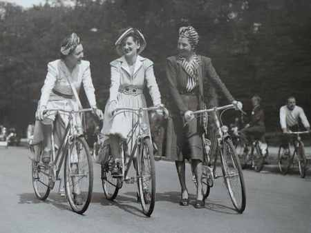 bicycle riding in days gone by