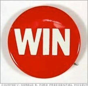 This win button represents beating the NYC fire hydrant parking ticket