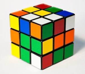 This image of Rubik's cube represents the puzzle of parking safely in NYC