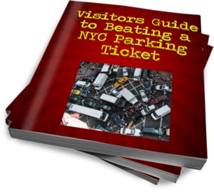 "This ecover is for an ebook, ""Visitors Guide to Beating a NYC parking ticket"""