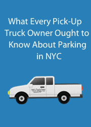 "This image is an ecover for the E-book, ""What Every Pick-Up Truck Owner Ought to know about parking in NYC"""