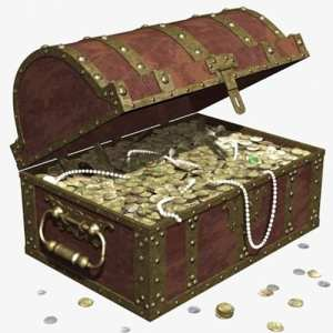 This treasure chest represents the valuable resources on the 311 NYC gov website