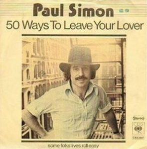 This is the album cover of the song about 50 ways to leave your lover,relating to the 50 ways to get a NYC parking ticket