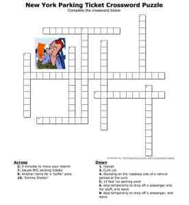 A New York Parking Ticket Crossword Puzzle