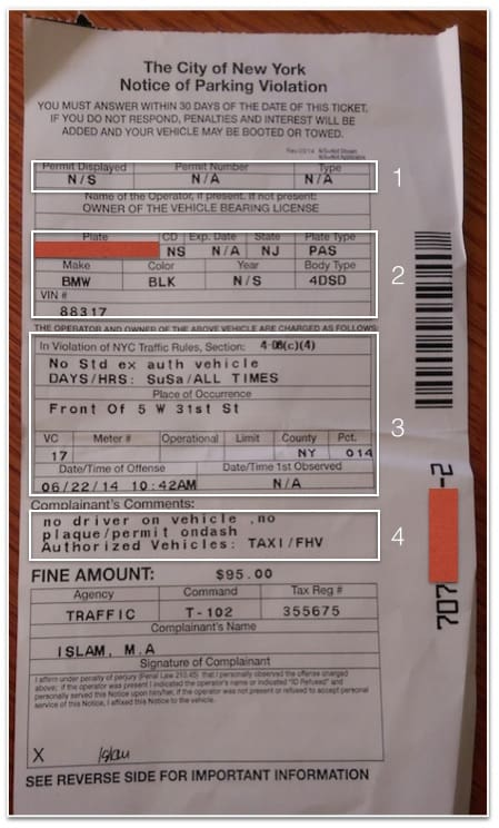 Nyc Traffic Ticket >> Fighting A Nyc Parking Ticket