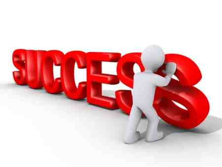 This image of success goes along with testimonials from happy clients