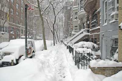 parking in the snow in NYC