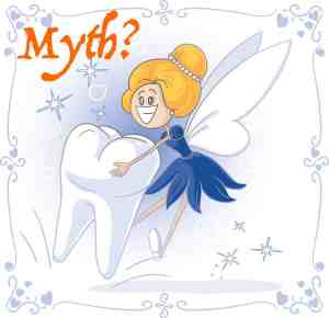 This image of a tooth fairy represents myths like no parking ticket myths debunked