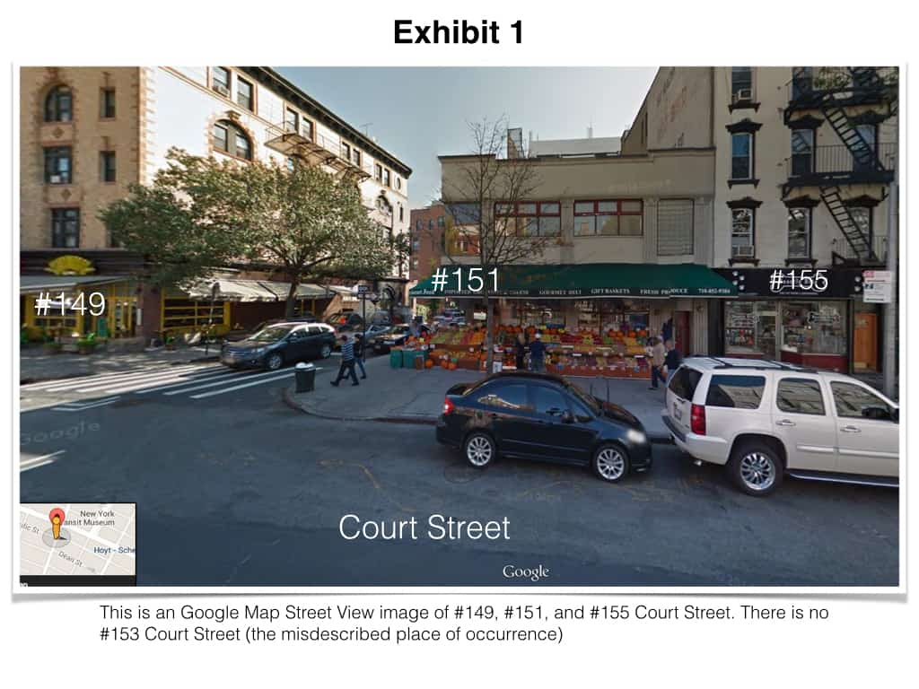 Beating NYC parking tickets by presenting an overview of the place of occurrence