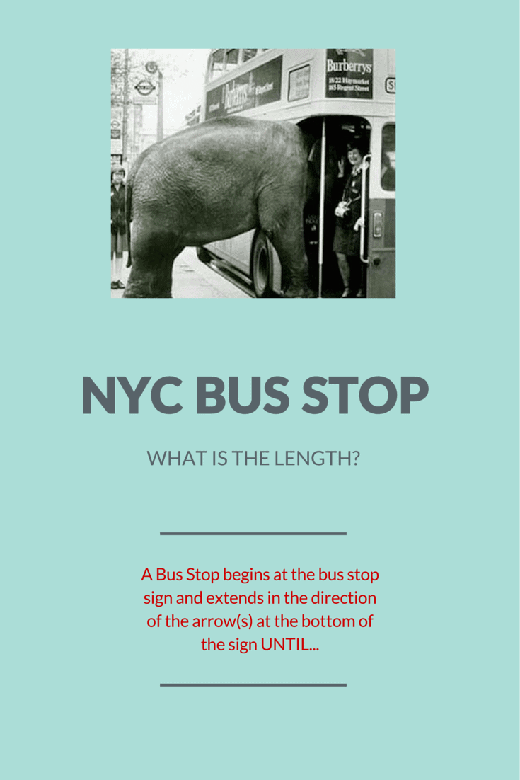 """How to Beat a NYC Parking Ticket for """"No Standing-Bus Stop"""""""