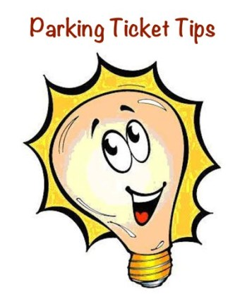 This light bulb illustrates parking ticket tips, the subject of this blog post