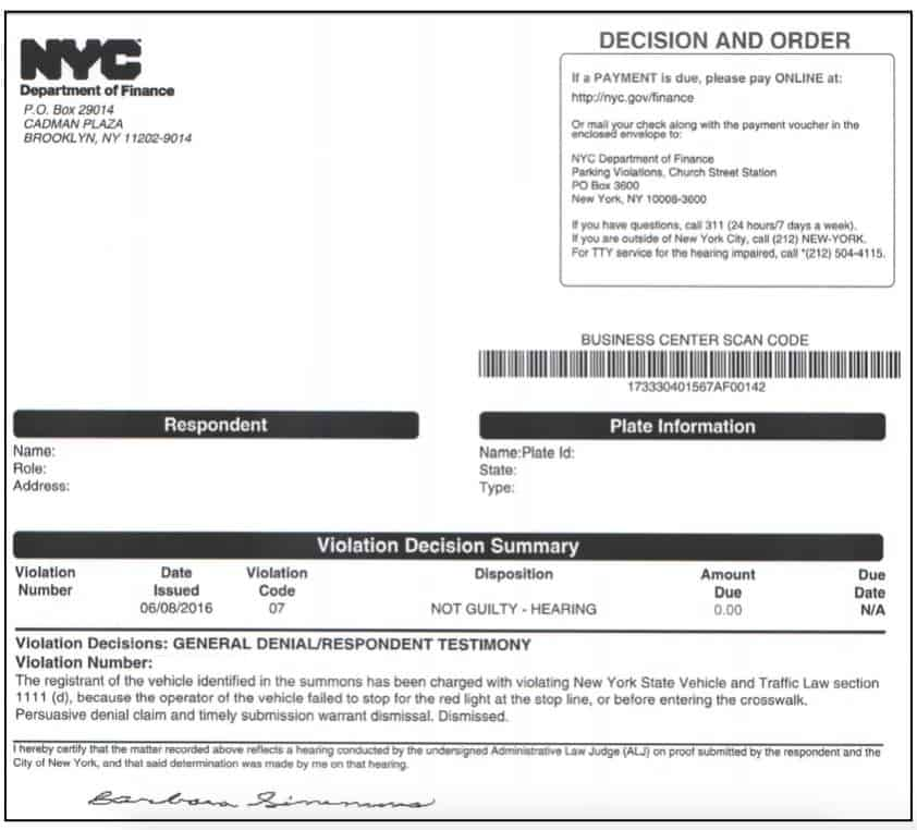 Pay Nyc Traffic Ticket >> I beat a Red Light Camera Ticket