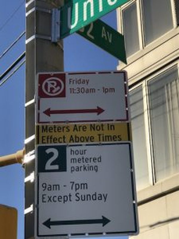 Little yellow sign_muni-meter parking ticket ambush