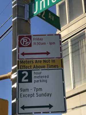 muni-meter parking ticket ambush sign