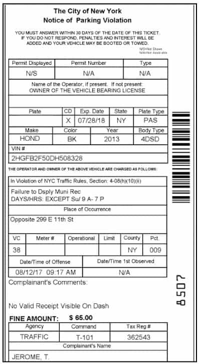 i bet you can 39 t beat these 3 nyc parking tickets. Black Bedroom Furniture Sets. Home Design Ideas