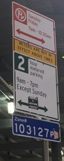 parking ticket quickie quiz parking sign