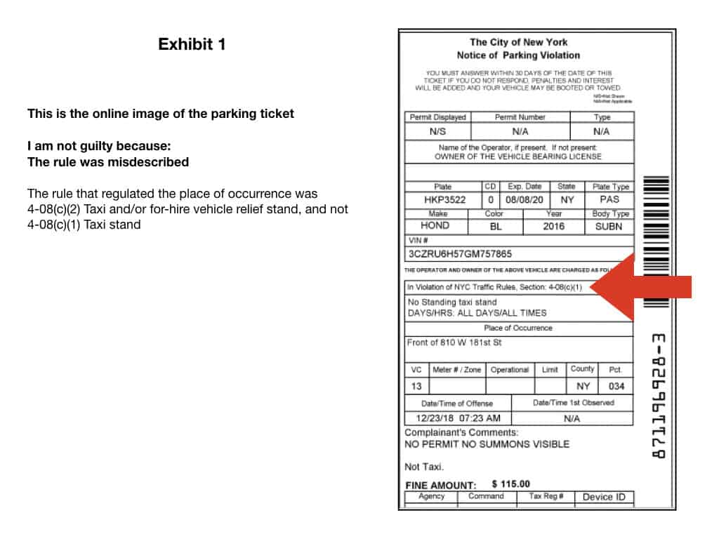Taxi Stand parking ticket exhibits