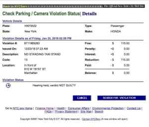 The Parking Ticket Judge's Decision