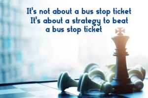 Bus stop parking ticket strategy