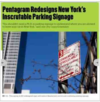 NYC redesigned parking signs