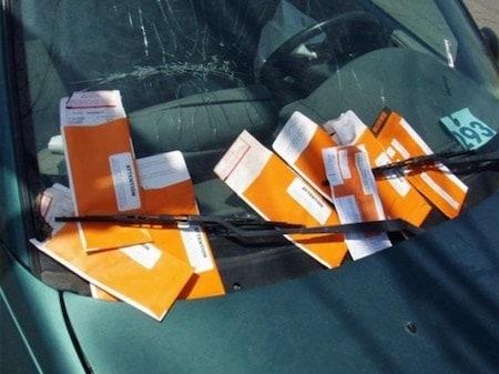 NYC parking tickets under car wiper