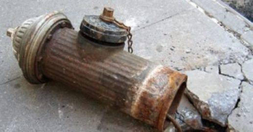 Broken fire hydrant