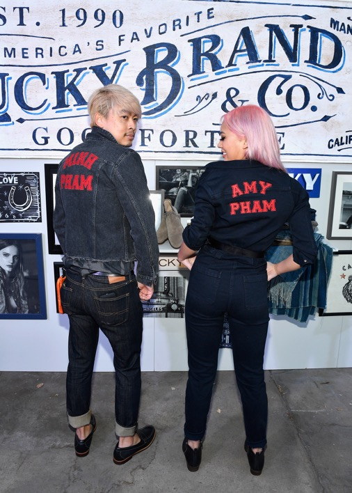 Amy and Minh Pham Rock Custom Embroidered Denim