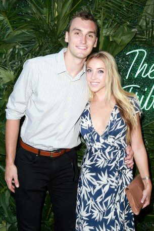 JULY 11: NBA player Sam Dekker (L) and Olivia Harlan attend The Players' Tribune Hosts Players' Night Out 2017 at The Beverly Hills Hotel on July 11, 2017 in Beverly Hills, California. (Photo by Leon Bennett/Getty Images for The Players' Tribune )