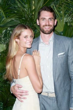 JULY 11: Kate Bock (L) and NBA player Kevin Love attend The Players' Tribune Hosts Players' Night Out 2017 at The Beverly Hills Hotel on July 11, 2017 in Beverly Hills, California. (Photo by Leon Bennett/Getty Images for The Players' Tribune )
