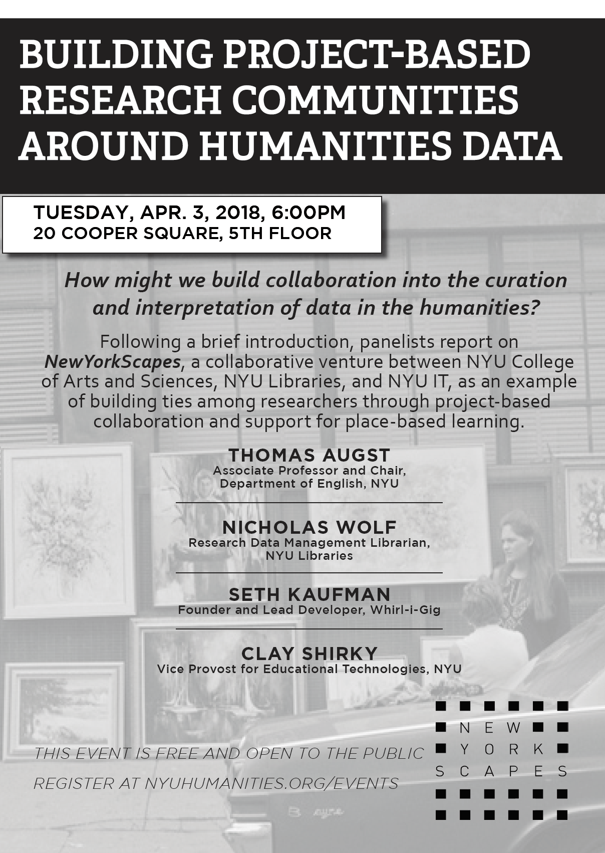 Building Project Based Research Communities Around Humanities Data