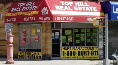 1-800-HURT-911 Bronx office storefront