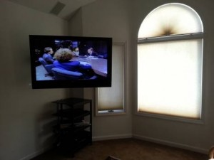 Large screen TV in the Deposition prep room