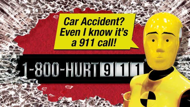 Crash test dummy knows to call a No-Fault accident lawyer at HURT-911®
