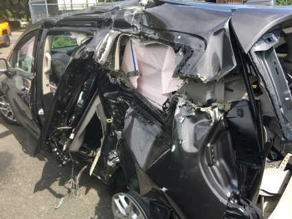 Car wrecked by drunk driver on Long Island