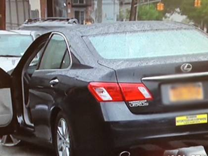NY Accident Attorney and Founding Partner Rob Plevy's car after it was car jacked