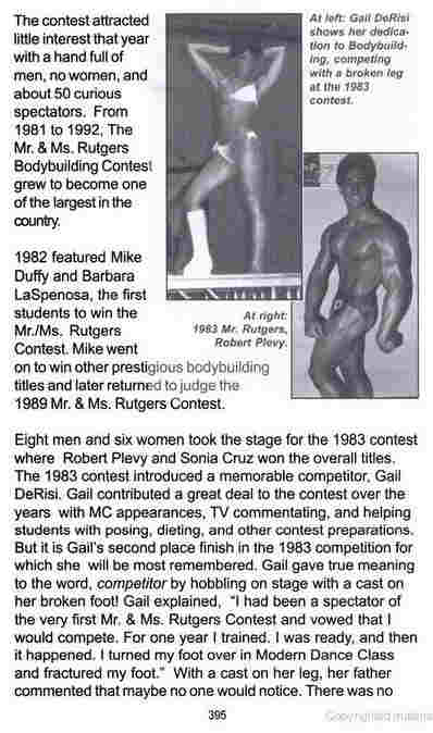NY Accident Attorney and Founding Partner Rob Plevy when he was a body builder and won Mr. Rutgers