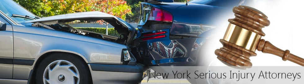 NY car accident lawyers at 1-800-HURT-911 showing two cars crashing with headline New York Serious Injury Attorneys