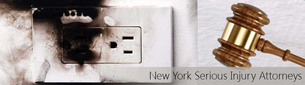 Smoke damage on electric outlet after electric fire caused burn injury