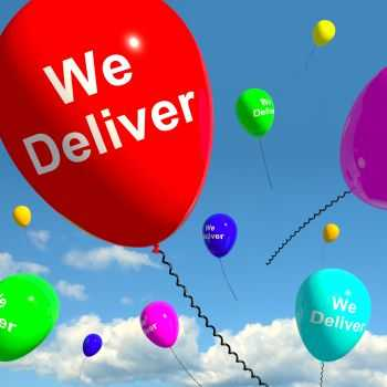 delivering accident settlements and verdicts - balloon showing We Deliver