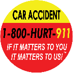 """NY car accident lawyers at 1-800-HURT-911 slogan """"If it matters to you, It matters to us!"""""""