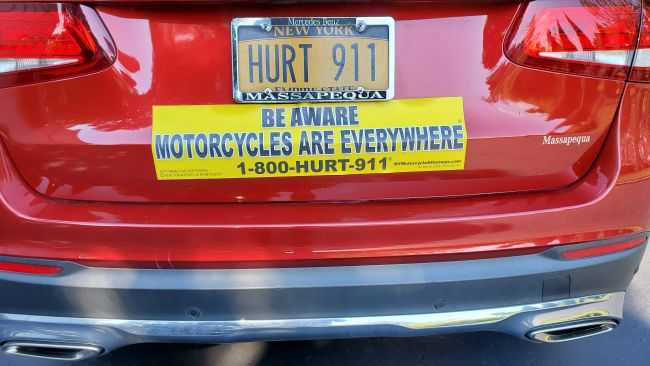 rear bumper of car showing no damage in an accident