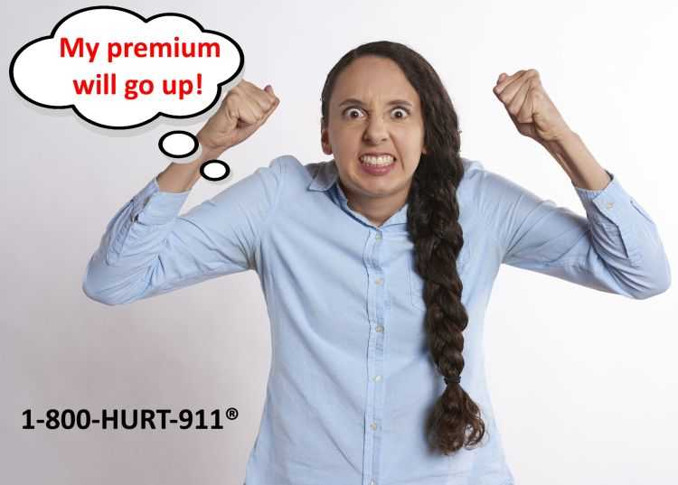 Angry woman friend thinking her insurance premium will go up if her friend files a claim