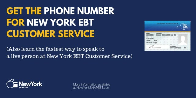 """New York EBT Phone Number"""