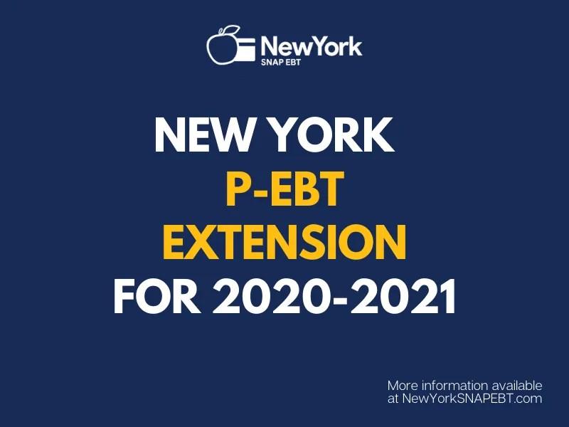 """""""New York P-EBT Extension Update"""""""